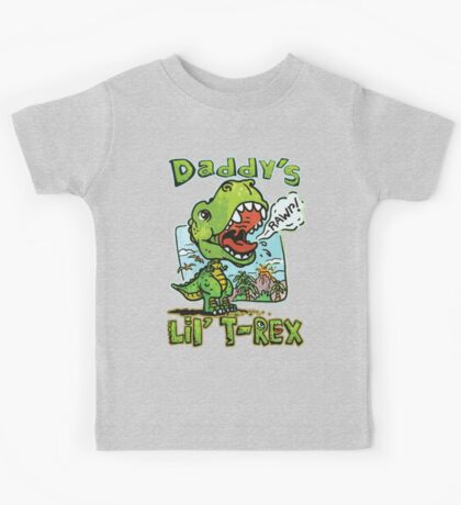 Daddy's Little T-Rex Dinosaur Kids Tee