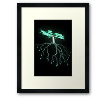 Digital Tree Framed Print