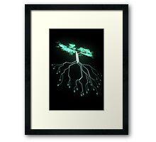Digital Tree Framed Print