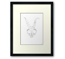 Frank Skull, Light Version Framed Print