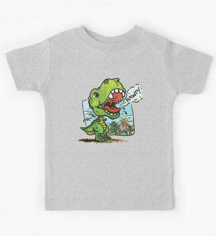 Little T Rex Dinosaur Kids Tee