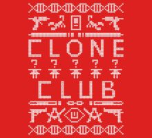 Clone Club (White Text) Ugly Christmas Sweater - Orphan Black Kids Clothes