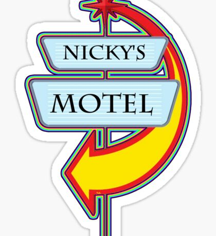 Nicky's Motel campy truck stop tee  Sticker