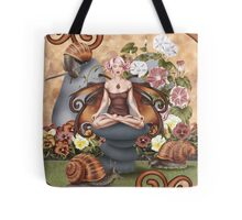 Snail Fairy Yoga Pose Garden Meditation Tote Bag