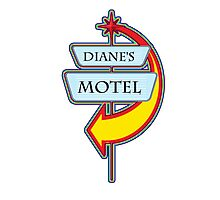 Diane's Motel campy truck stop tee  Photographic Print