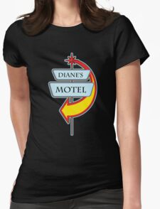 Diane's Motel campy truck stop tee  Womens Fitted T-Shirt