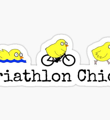 Triathlon Chick Sticker