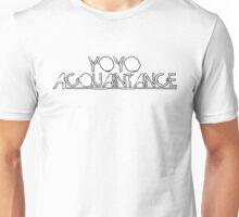 YoyoAcquaintance Distort Black Unisex T-Shirt