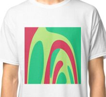 Nouveau Retro Graphic Red and Green Classic T-Shirt