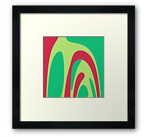 Nouveau Retro Graphic Red and Green Framed Print