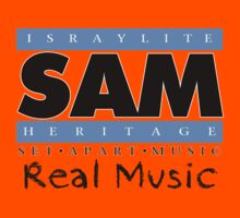 S.A.M. REAL MUSIC BLK LETTERS Kids Clothes