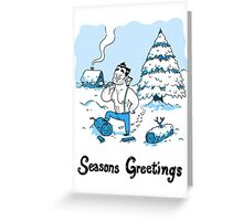 Bashing Through The Snow... Greeting Card