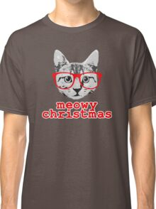 Funny Christmas - Meowy Christmas Classic T-Shirt