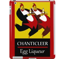 Funny chickens waiters, vintage egg liqueur ad iPad Case/Skin