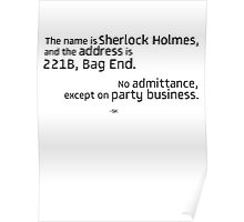 221B Bag End-SH Poster