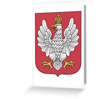 Coat of Arms of the Second Polish Republic, 1919-1927 Greeting Card
