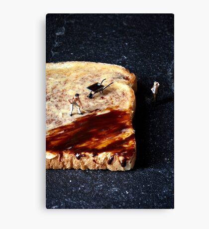 Marmite and toast Canvas Print