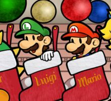 Paper Mario Chistmas Sticker