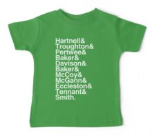 All Doctor - Hartnell to Smith, Whitout Hurt Baby Tee