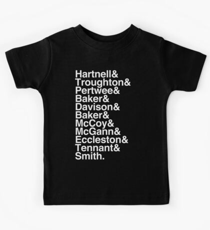 All Doctor - Hartnell to Smith, Whitout Hurt Kids Tee