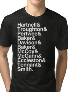 All Doctor - Hartnell to Smith, Whitout Hurt Tri-blend T-Shirt
