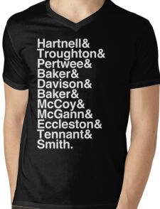 All Doctor - Hartnell to Smith, Whitout Hurt Mens V-Neck T-Shirt