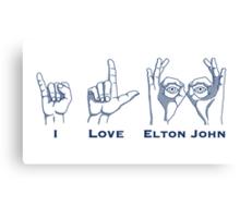 I Love Elton Canvas Print