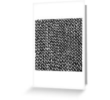 Hand Knitted Black Small Greeting Card