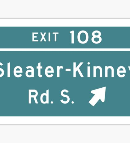 Sleater-kinney Intersection Sticker