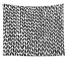 Hand Knitted Black Small Wall Tapestry