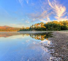 Early autumn morning on Derwentwater by AngiNelson