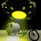 Bicycle Mini Camper Mark II Design UFO Promo 2 by mdkgraphics