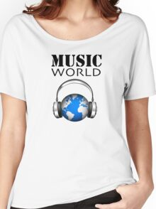 MUSIC WORLD Women's Relaxed Fit T-Shirt