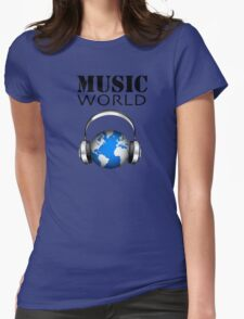 MUSIC WORLD Womens Fitted T-Shirt