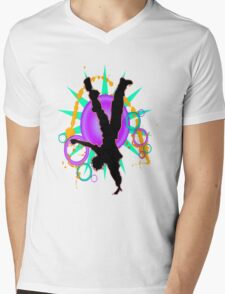 DANCE Mens V-Neck T-Shirt