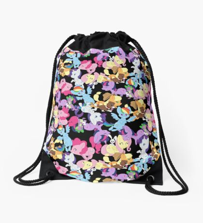 MLP Main Six Pattern Drawstring Bag