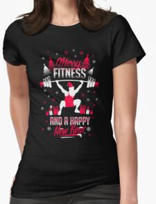 Merry Fitness !! Womens Fitted T-Shirt