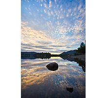 Evening reflections upon Derwentwater Photographic Print