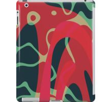 Nouveau Retro Graphic Red Green and Black iPad Case/Skin
