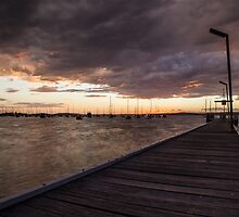 Belmont Warf at Sunset by Daniel Rankmore