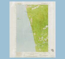 USGS Topo Map Washington State WA Destruction Island 240844 1956 62500 One Piece - Short Sleeve