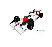 Alain Prost - McLaren Honda MP4/4 Photographic Print