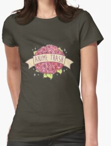 Anime Trash Womens Fitted T-Shirt