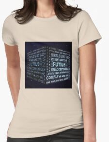 Borg Cube Womens Fitted T-Shirt