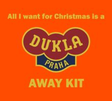 Dukla Prague Away Kit Kids Tee