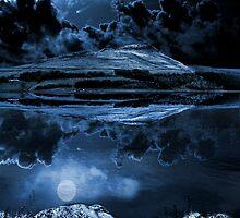 Night sky over dovestones by waylander99uk