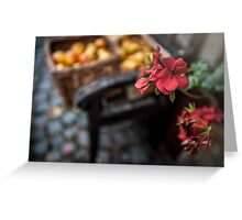 Autumn Apples and Blossoms Greeting Card