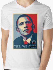 Obama. Yes we did. Mens V-Neck T-Shirt