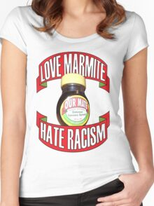 love marmite hait racism Women's Fitted Scoop T-Shirt