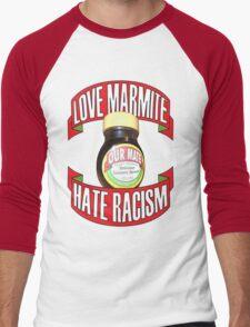 love marmite hait racism Men's Baseball ¾ T-Shirt
